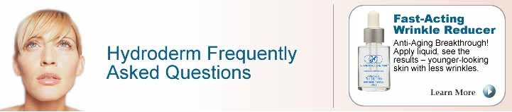 Hydroderm frequently asked questions and answers